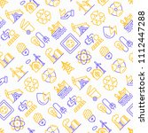energy seamless pattern with... | Shutterstock .eps vector #1112447288