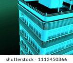 abstract modern skyscraper | Shutterstock . vector #1112450366
