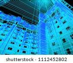 modern architecture. the... | Shutterstock . vector #1112452802