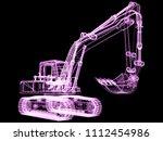 3d model excavator | Shutterstock . vector #1112454986