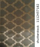 moroccan pattern in gold and... | Shutterstock . vector #1112457182