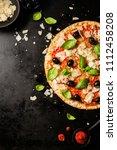 top view of tasty appetizing... | Shutterstock . vector #1112458208