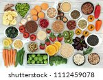 fresh super food concept with... | Shutterstock . vector #1112459078