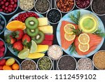 health food for a healthy heart ... | Shutterstock . vector #1112459102