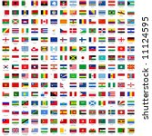 alphabetically sorted flags of... | Shutterstock .eps vector #11124595