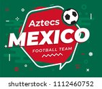 speech bubble mexico with icon... | Shutterstock .eps vector #1112460752