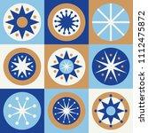 folk stars seamless pattern....   Shutterstock .eps vector #1112475872