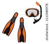 collection for scuba diving or... | Shutterstock .eps vector #1112480978