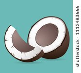 vector coconut illustration | Shutterstock .eps vector #1112483666