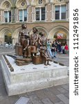 Small photo of LONDON, UNITED KINGDOM - NOVEMBER 24, 2013: The Kindertransport Statue Children Transport in Front of Liverpool Street Station in London, United Kingdom.