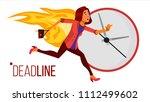 deadline concept vector. lack... | Shutterstock .eps vector #1112499602