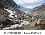 aerial view of fabergstolsbreen ... | Shutterstock . vector #1112500418