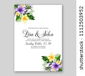 tropical summer floral wedding... | Shutterstock .eps vector #1112503952