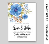 floral blue anemone wedding... | Shutterstock .eps vector #1112503955