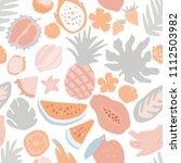 minimal summer trendy vector... | Shutterstock .eps vector #1112503982