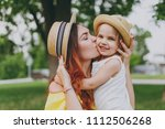 tender woman in yellow clothes...   Shutterstock . vector #1112506268