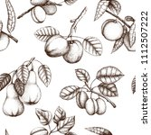 vintage background with ripe... | Shutterstock .eps vector #1112507222