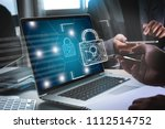 cyber security business... | Shutterstock . vector #1112514752