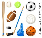 sport inventory realistic icons ... | Shutterstock .eps vector #1112518832