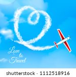 love to travel heart shaped... | Shutterstock .eps vector #1112518916