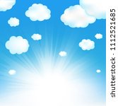 sky and cloud with gradient... | Shutterstock .eps vector #1112521685