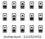 mobile phone avatar icons set  | Shutterstock .eps vector #1112521922