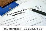 south korean visa application... | Shutterstock . vector #1112527538