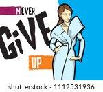 stylish fashion model. pretty... | Shutterstock .eps vector #1112531936