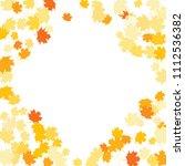 confetti of multicolored leaves ... | Shutterstock .eps vector #1112536382