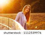 beautiful girl with long hair   Shutterstock . vector #1112539976