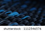wavy surface of black and blue... | Shutterstock . vector #1112546576