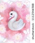 Swan Watercolor Watercolour...