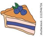 delicious piece of cake pie | Shutterstock .eps vector #1112546726