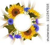 illustration of floral card... | Shutterstock .eps vector #1112547035