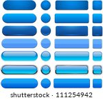 set of blank blue buttons for...
