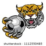 a wildcat angry animal sports... | Shutterstock .eps vector #1112550485