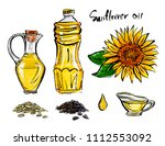 illustrations of sunflower oil... | Shutterstock .eps vector #1112553092