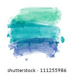 green and blue hand painted... | Shutterstock . vector #111255986
