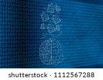 genius mind conceptual... | Shutterstock . vector #1112567288