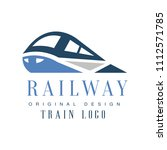 railway train logo original... | Shutterstock .eps vector #1112571785