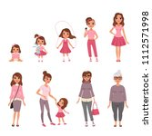 life cycles of woman  stages of ... | Shutterstock .eps vector #1112571998