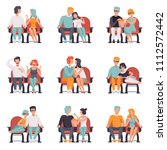 couples sitting in cinema... | Shutterstock .eps vector #1112572442