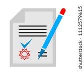 vector sign contract... | Shutterstock .eps vector #1112579615