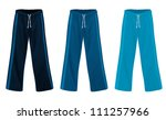 sweatpants set | Shutterstock .eps vector #111257966