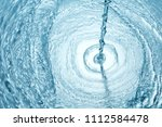 background of blue clear water... | Shutterstock . vector #1112584478