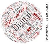 vector concept or conceptual... | Shutterstock .eps vector #1112589365