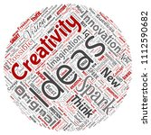 vector conceptual creative idea ... | Shutterstock .eps vector #1112590682