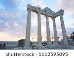 apollon temple  side  antalya... | Shutterstock . vector #1112595095