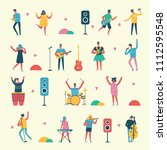 vector set in a flat style of... | Shutterstock .eps vector #1112595548