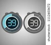 electronic digital stopwatch.... | Shutterstock .eps vector #1112603672